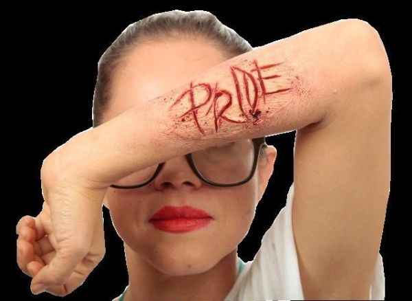 Pride Prosthetic Wounds Word Scar Tattoo Halloween Makeup Fancy Dress Cosplay